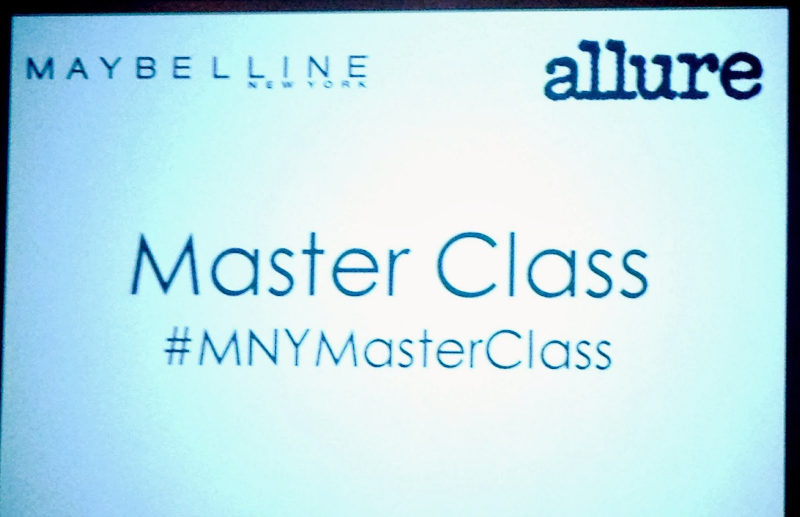 Maybelline Master Class At Allure Magazine
