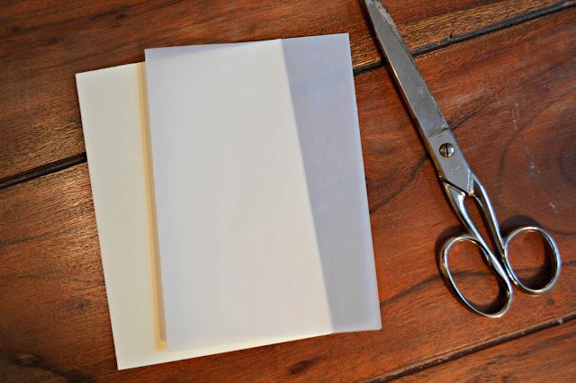 Karte mit Einleger aus Transparentpapier