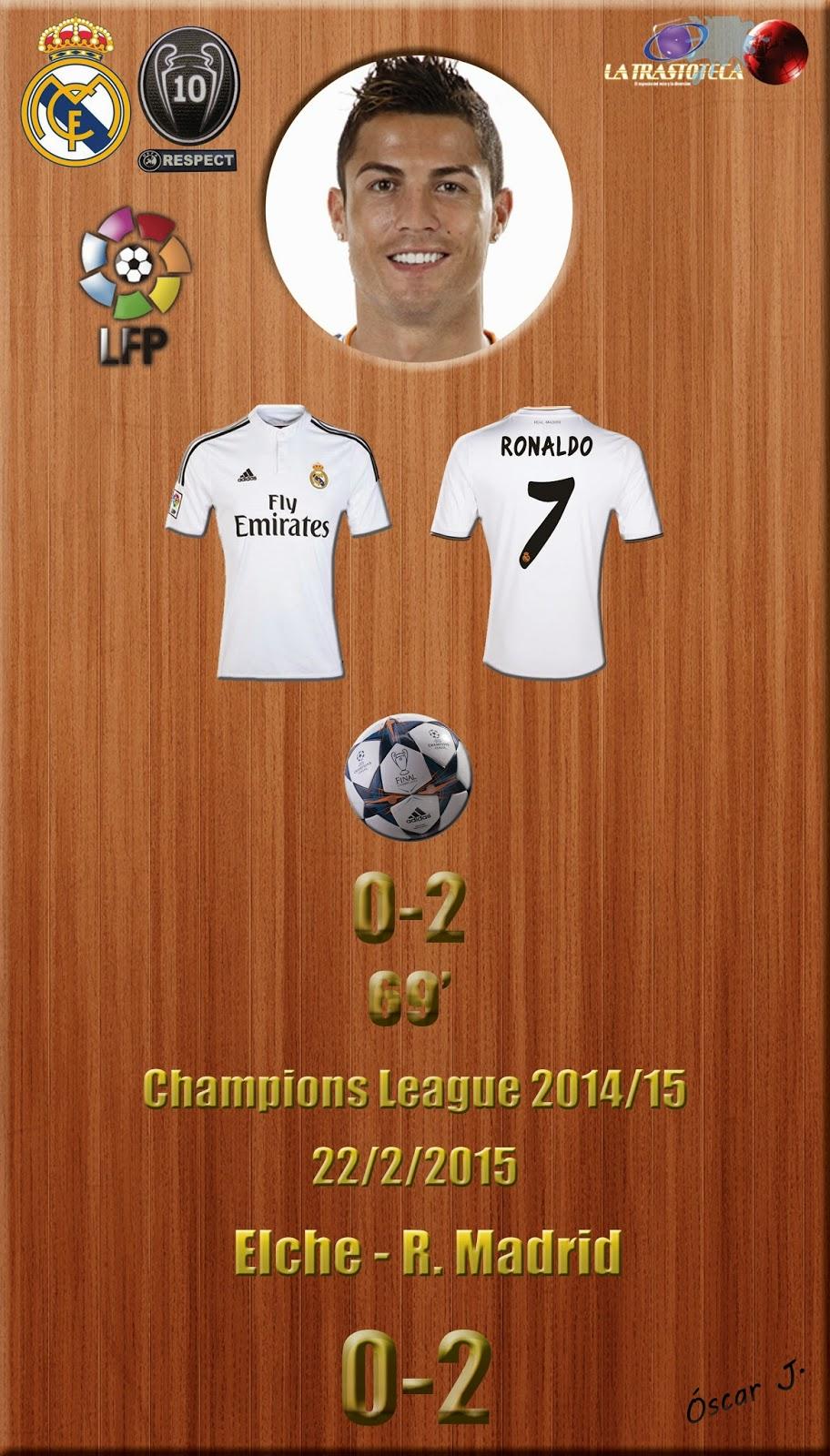Cristiano Ronaldo (0-2) - Elche 0- 2 Real Madrid - Liga 2014/15 - Jornada 24 - (22/2/2015)