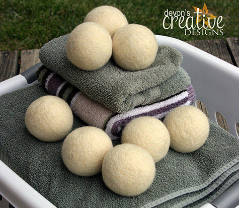 Handmade Wool Dryer Balls - Great Way to Save Money - Never Buy Fabric Softener or Dryer Sheets Again