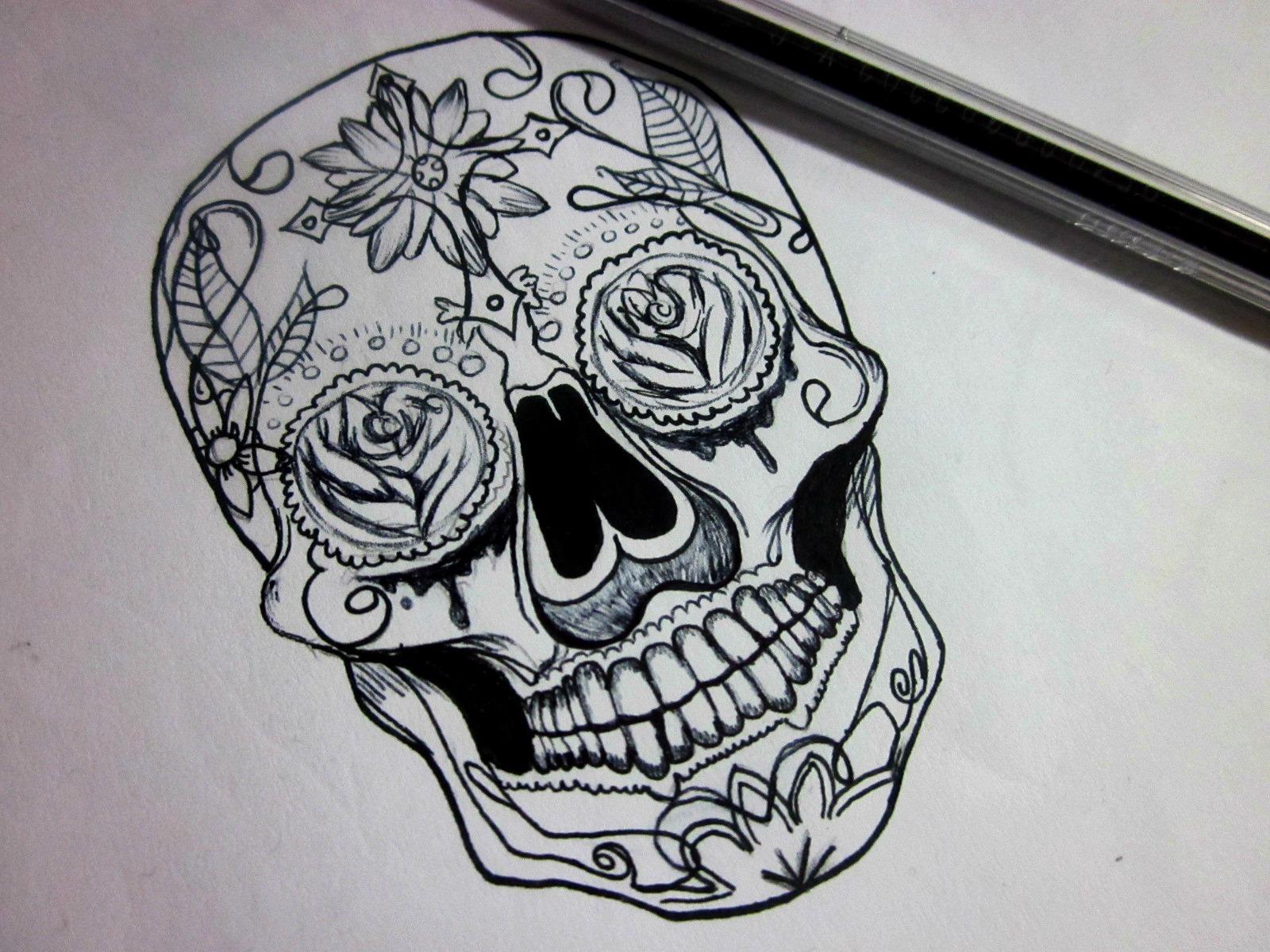 Dibujos y diseños de tatuajes. : Skulls. ♥