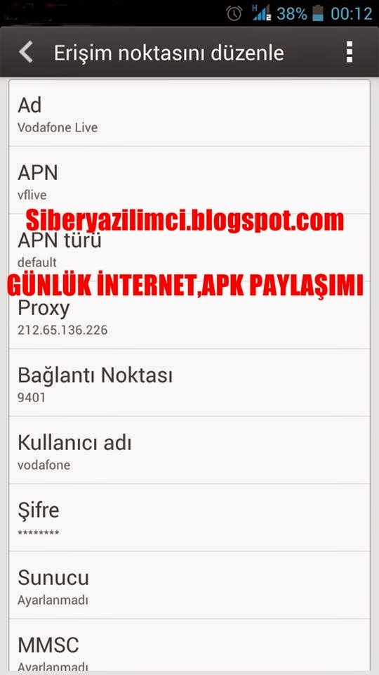 simple android server apk turkcell
