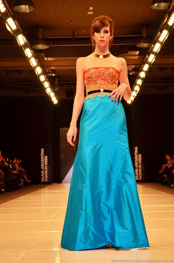 Laurencio Adot verano 2014 vestidos de fiesta.