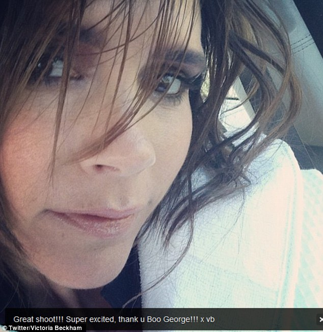 Victoria Beckham Tweets Picture With Short Hair And No Hair
