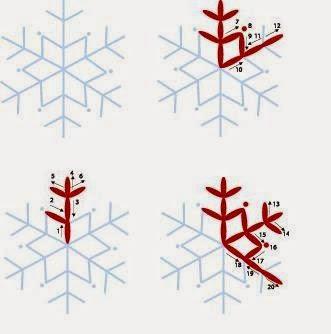 схема снежинка вышивка простая