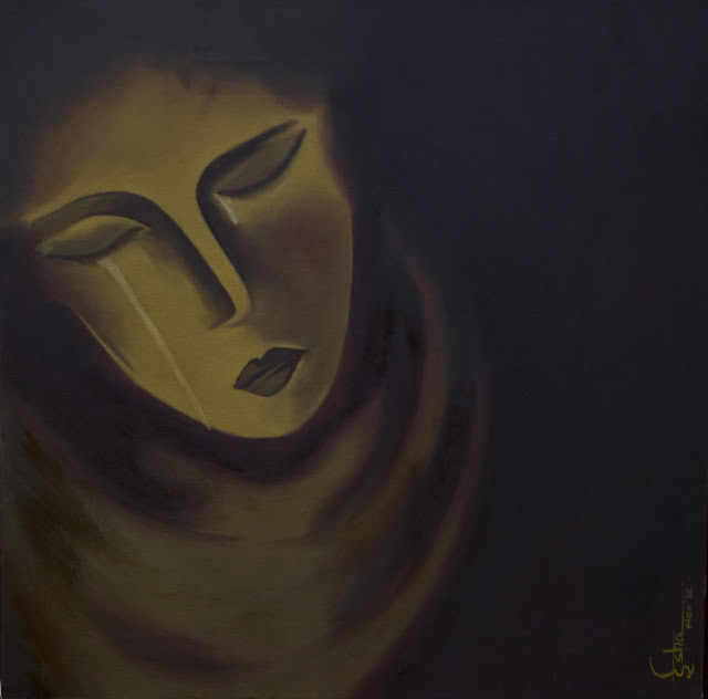 "THE PAIN Painted by Isha Trivedi ""Isha Trivedi"""