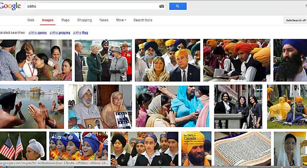 google search results for sikhs