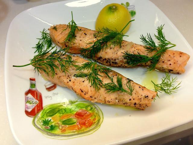poached salmon recipe