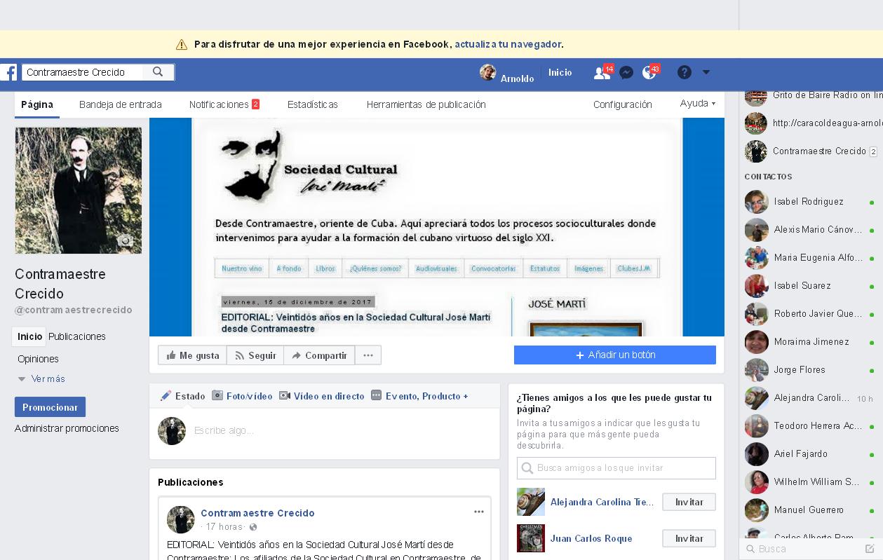 Nuestra página en Facebook