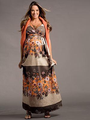 vestido gestante longo