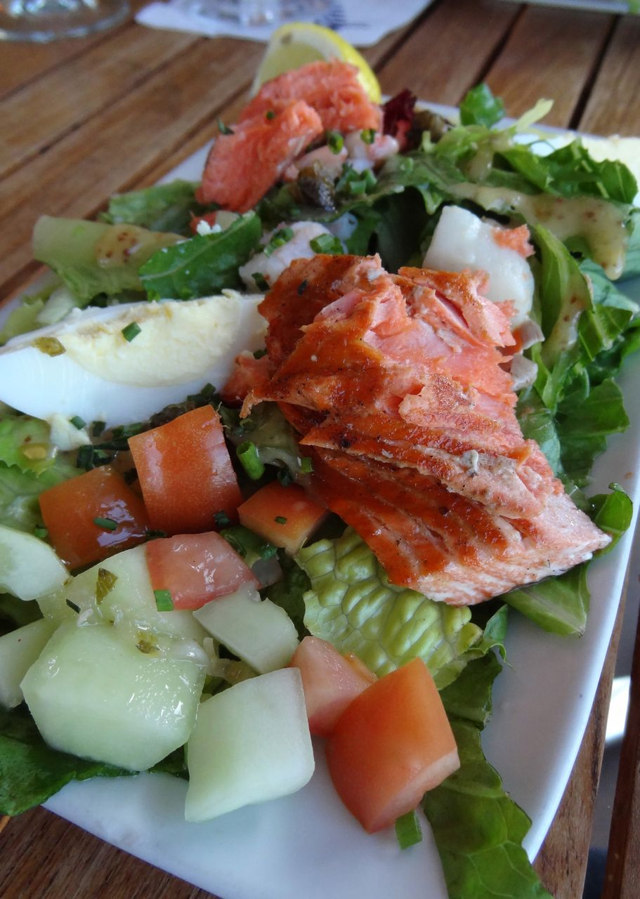 Seafood Chop-Chop Salad with grilled BC salmon, bay shrimp and ...