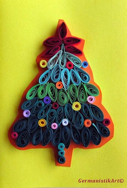 Paper Quilling christmas greeting card designs