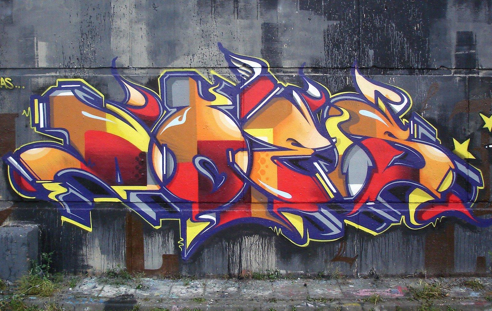 Graffiti wall tattoo - Graffiti Tattoos