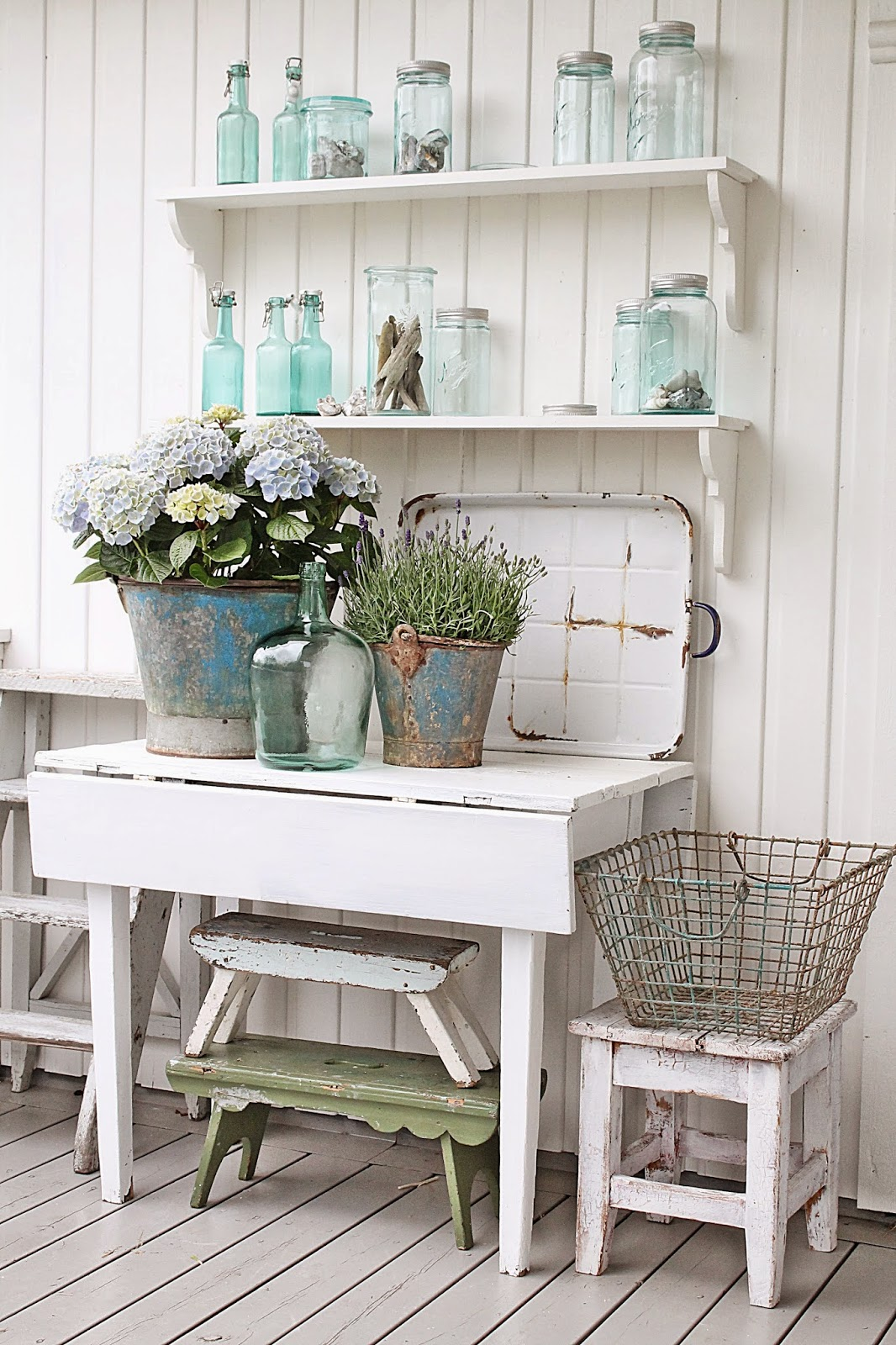 Vibeke design forglemmegei kreativ med gjenbruk for Farmhouse cottage decor