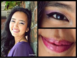 Violet eyes & Fuchsia lips @ Beauty Bunker
