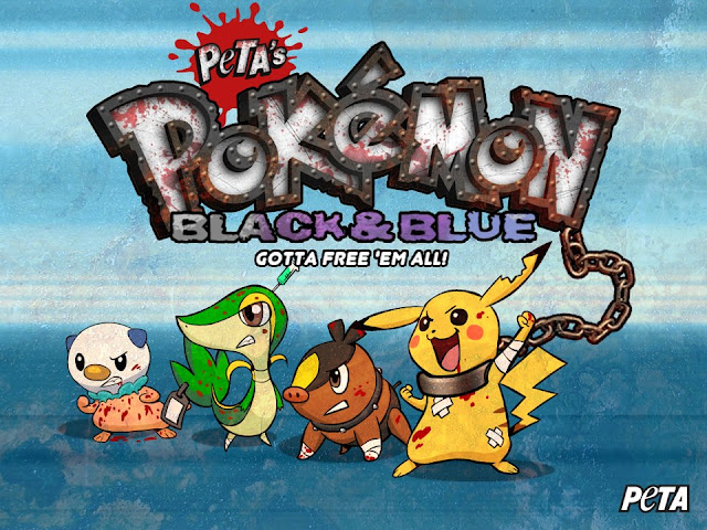 pikachu tepig and others covering the parody peta game