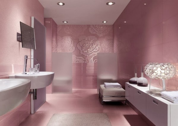 Pink Bathroom Design Beautiful Latest ~ Home Inspirations on pretty pink bathrooms, nice pink bathrooms, cool pink bathrooms,