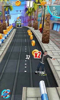 Screenshots of the Ronaldo and Hugo Superstars skaters for Android tablet, phone.