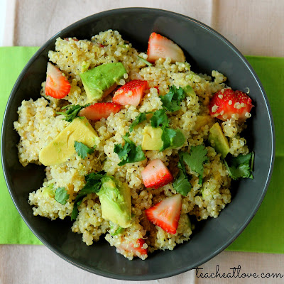 avocado and quinoa