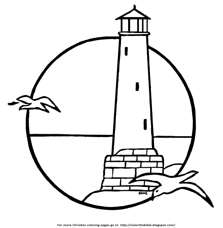 A Lighthouse Coloring Page