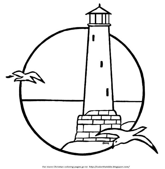 coloring pages lighthouse - photo#31