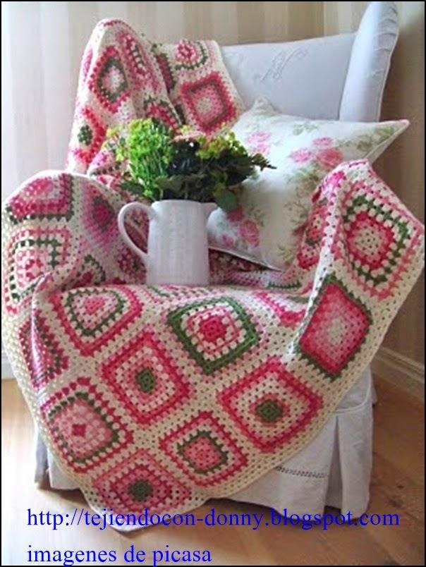Tejidos a crochet ganchillo patrones granny lindas - Mantas de bebe hechas a ganchillo ...