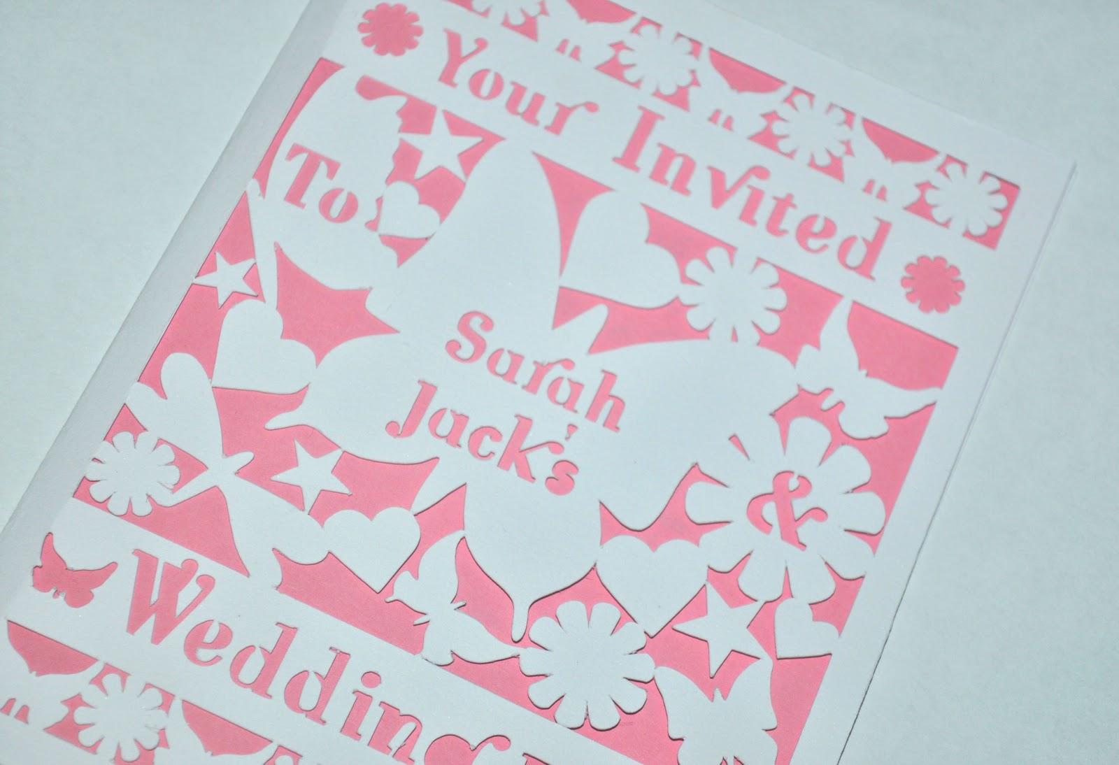 New Laser Cut Wedding Invitations Butterflies Hearts Flowers: Pea Wedding Invitations Cut Out At Websimilar.org
