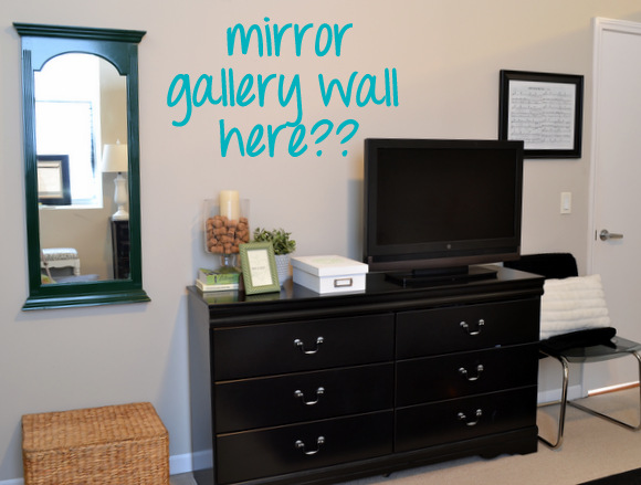 Mirror gallery wall here
