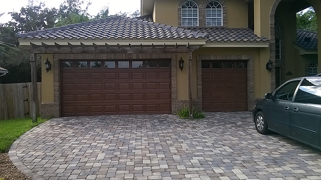 Make a garage door look like wood everything i create for Paint garage door to look like wood
