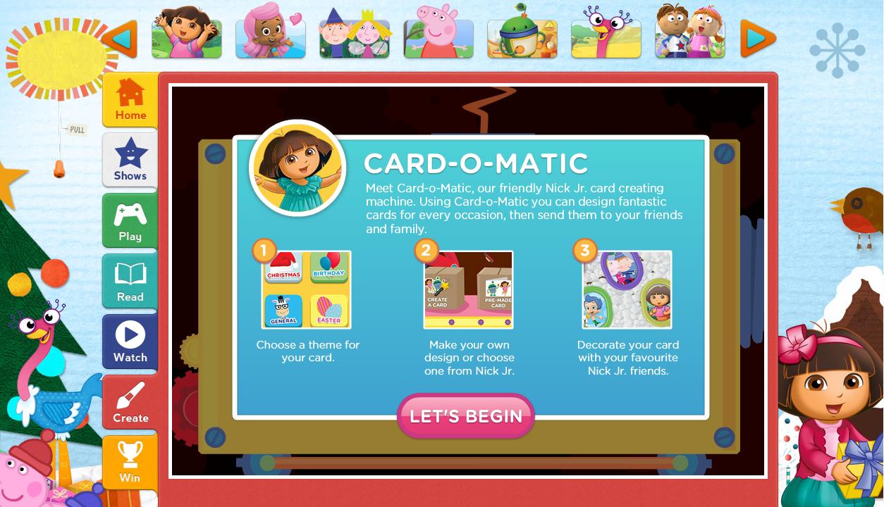 Inside the Wendy House: The Nick Jr Card-o-Matic - Free Festive Fun!
