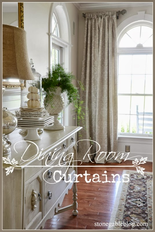 DINING ROOM CURTAINS - StoneGable