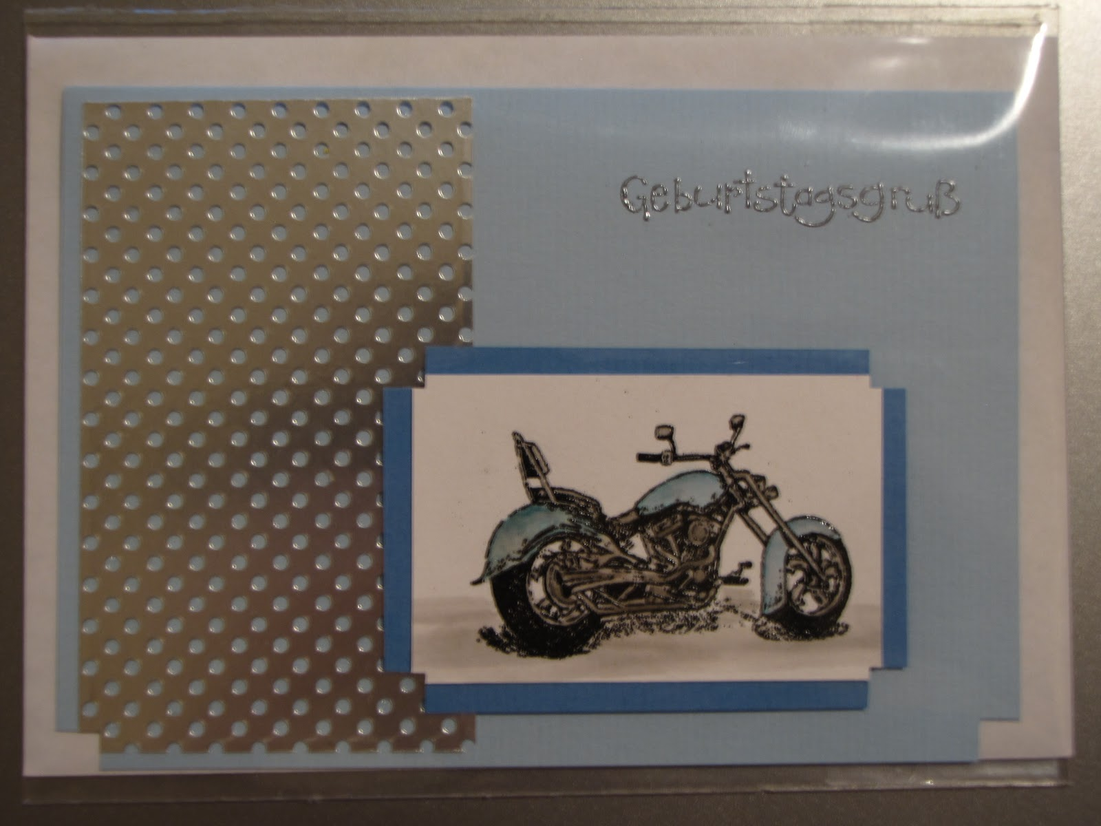 sconebeker stempelscheune geburtstagskarte mit dem stampin up stempel motorcycle. Black Bedroom Furniture Sets. Home Design Ideas