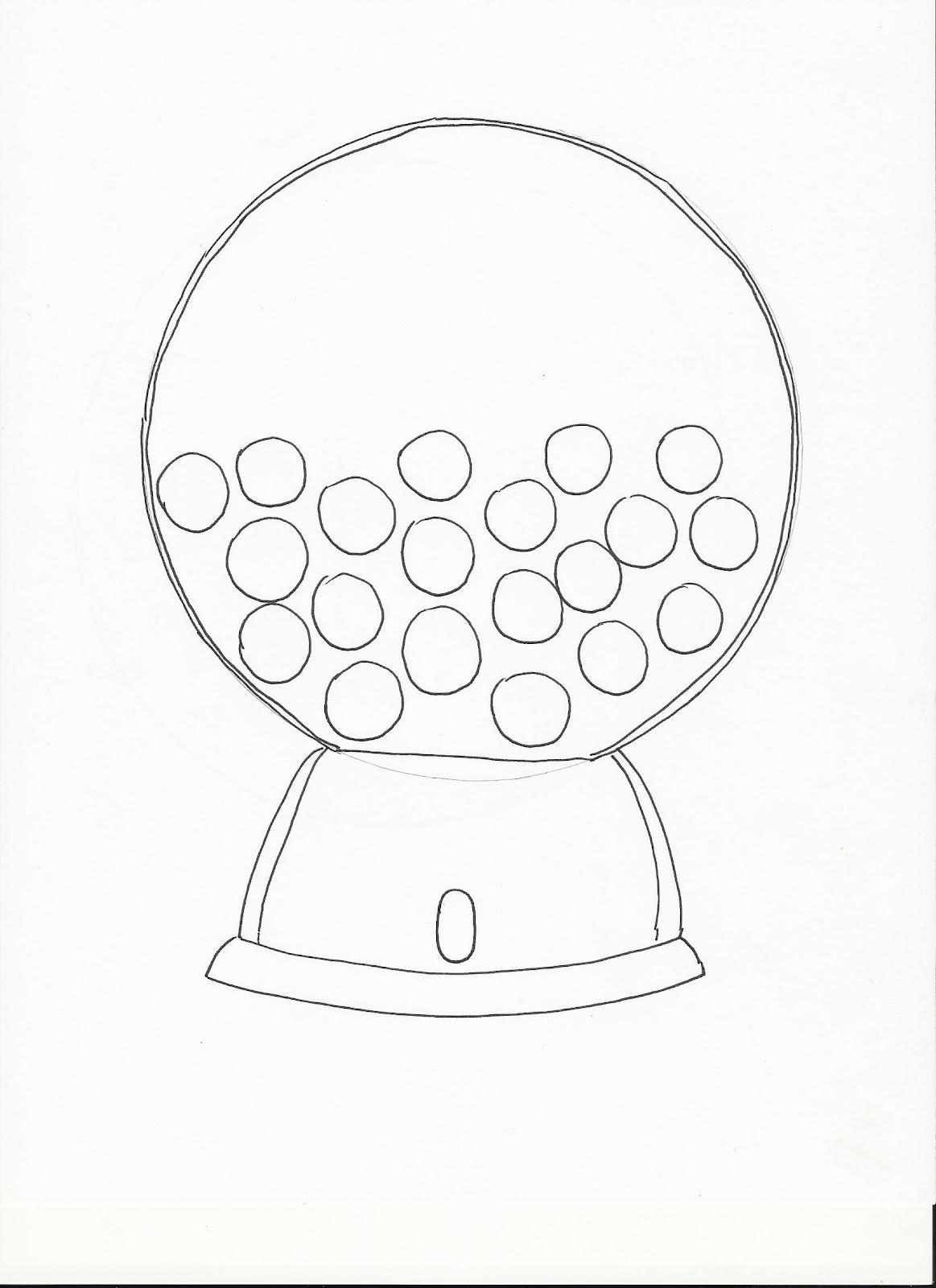gumball machine drawing