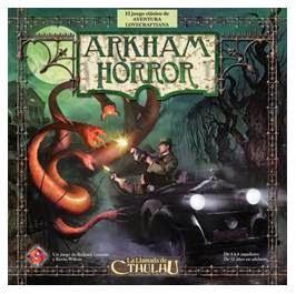 Caja del juego de cartas de Arkham Horror