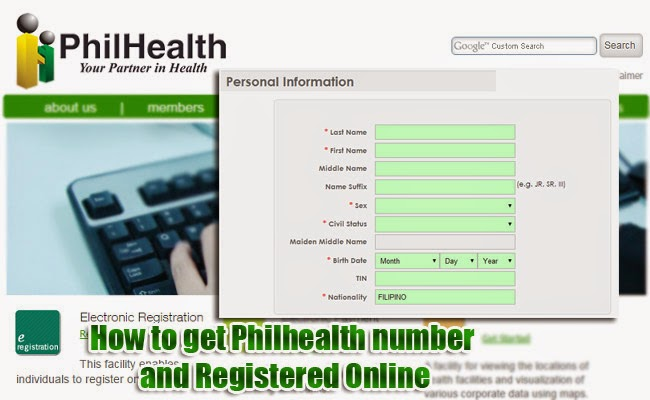 How to get Philhealth number and Registered Online