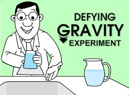 http://www.turtlediary.com/kids-science-experiments/defying-gravity-experiment.html