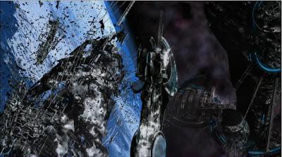 Spaceship debris war battle destruction Defiance pilot screencaps pictures