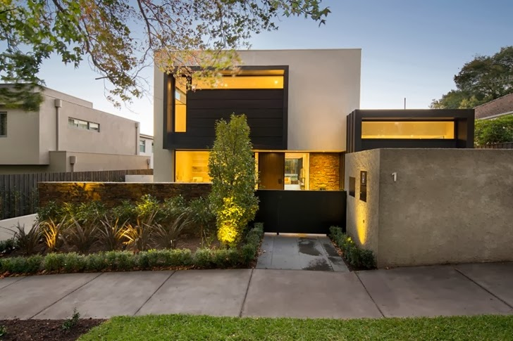 Contemporary Style Home by Domoney Architecture from the street