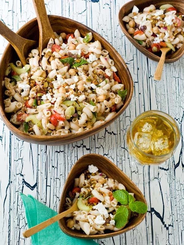 Gluten Free Middle Eastern Pasta Salad