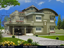 Evens Construction Pvt 3d Kerala House Design