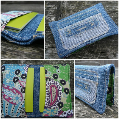 Recycled jeans business card case