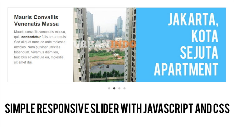 Simple Responsive Slider With Javascript And CSS