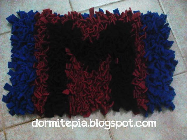 Dormite p a alfombra acolchonadita con retazos de tela - Telas para alfombras ...