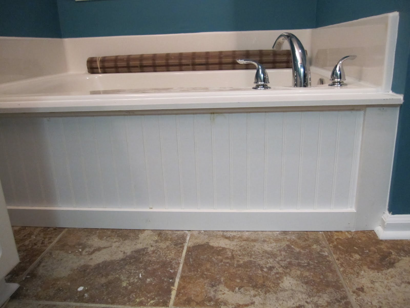 Standard tub into a build in tub (faux that is)