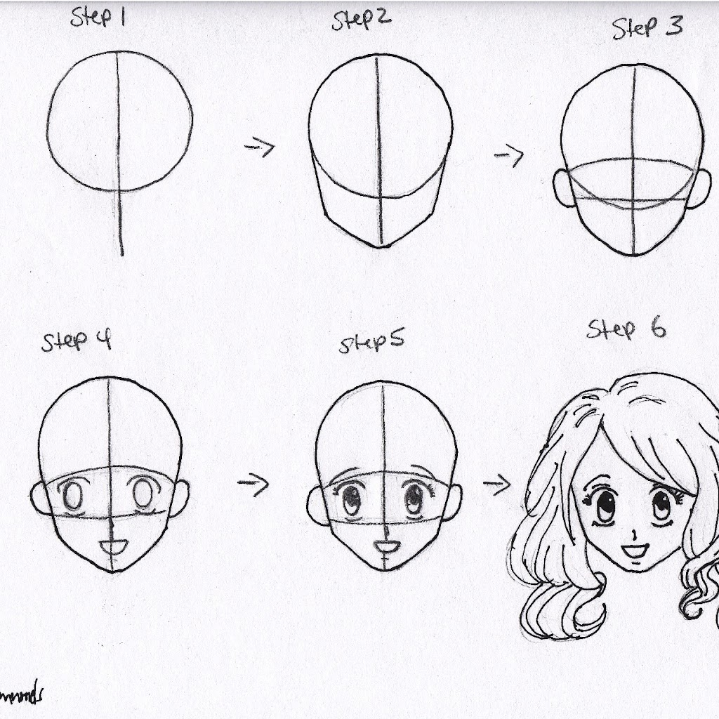 Anime Drawings In Pencil Easy Step By Step