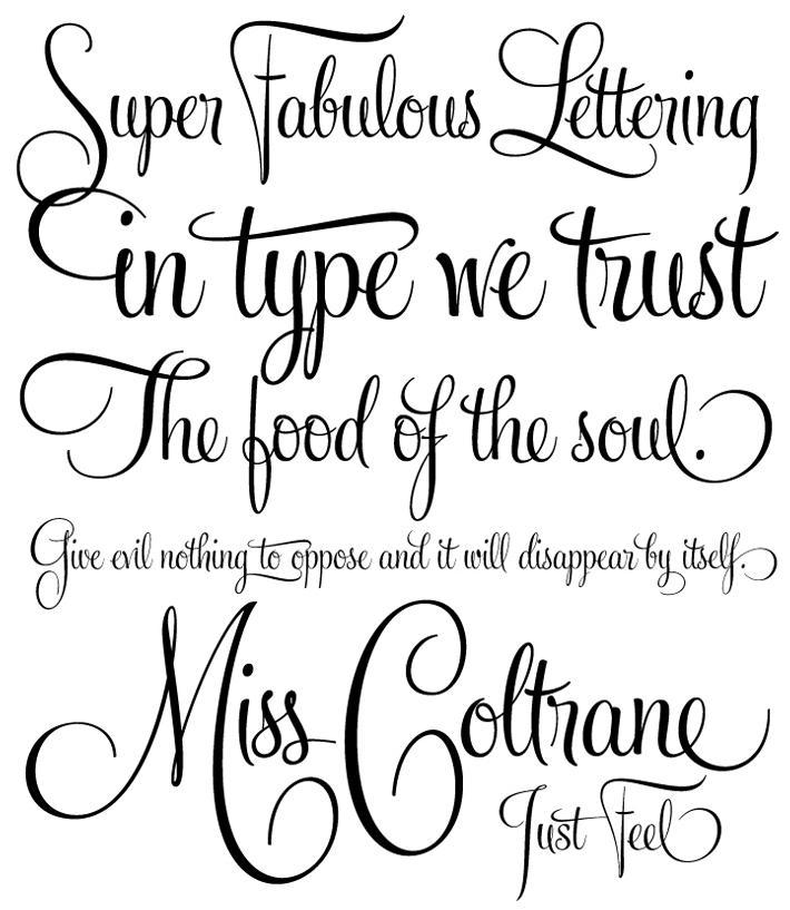 Tattoo Small Fonts