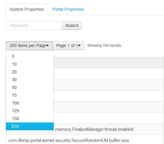 Nuevos posibles rangos para la paginación del listado