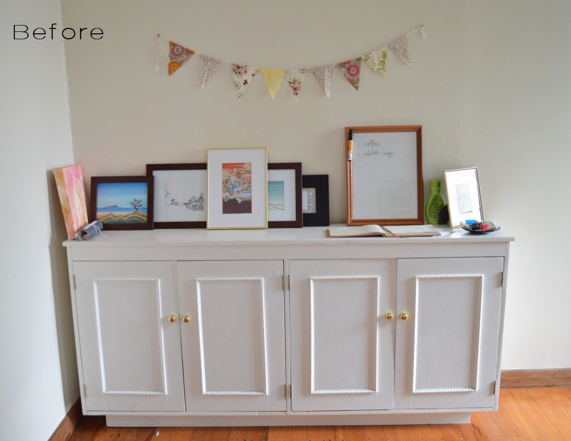 five kinds of happy white buffet living room update 2