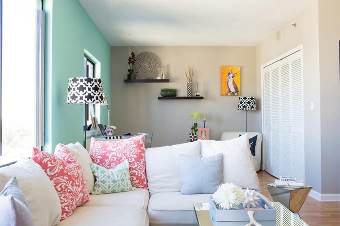 decoracao de apartamentos pequenos femininos:Decoração de apartamento feminino – Casinha Arrumada