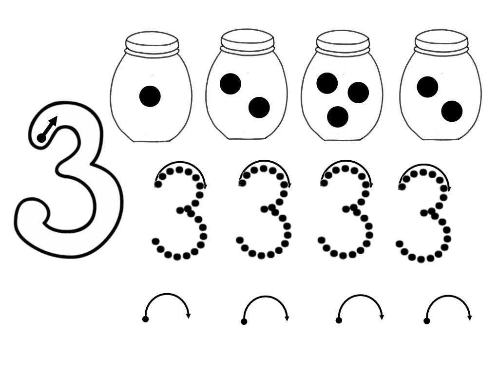 INFANTIL 4 AÑOS: Números para colorear
